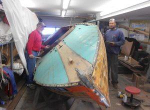 Treasured wooden sailboat