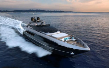 Riva 100′ Corsaro Conqueror of the Seas' preview in the Ligurian Sea