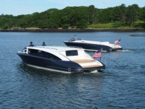 two new 10.5m Hodgdon tenders cruising