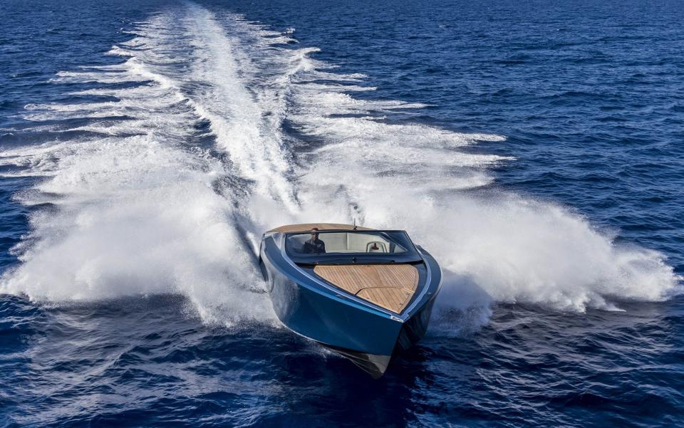Aston Martin S First Speedboat Am37 Launched In Monaco Nautech News