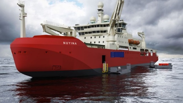 31de5b9ebb Australia's new icebreaker, RSV Nuyina, is currently under construction.