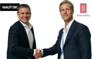 Espen Martinsen of Nautisk with Vigleik Takle of Kongsberg Digital