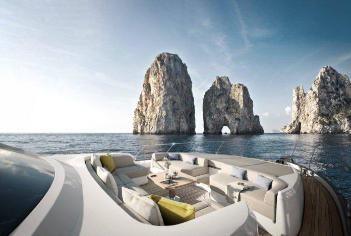 luxury yacht lounge area