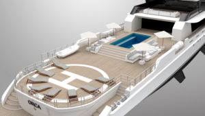 rosetti superyacht with pool