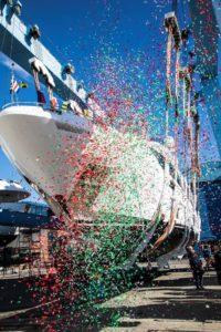 benetti yacht launching