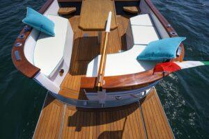 classical design italian boat
