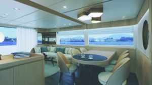 spacious interiors of azimut yacht