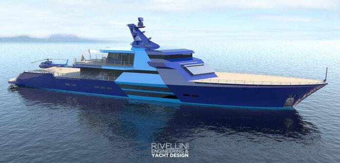 rivellini mega yacht for cruising