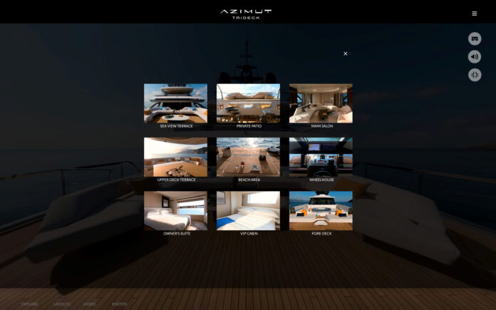 azimut yacht a live