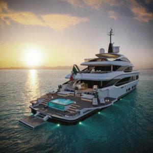 luxury benetti yacht